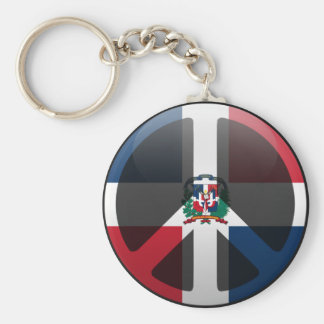 Peace in Dominican Republic Keychain