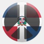 Peace in Dominican Republic Round Sticker