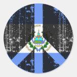 Peace In El Salvador Round Sticker