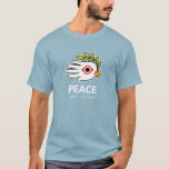 Hand shaped Peace in English t-shirt