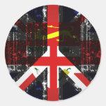 Peace In Fiji Round Sticker