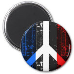 Peace In France Refrigerator Magnets