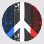 Peace In France Round Sticker