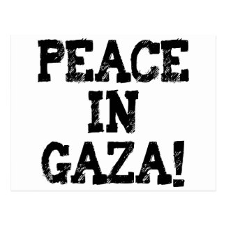 Peace in Gaza Buttons and T-Shirts! Postcard