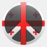 Peace in Georgia Round Stickers