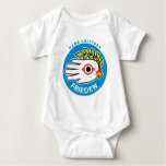 Hand shaped Peace in German baby t-shirt bodysuit