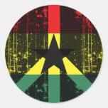 Peace In Ghana Classic Round Sticker