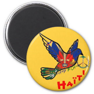 PEACE IN HAITI 2 INCH ROUND MAGNET