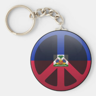 Peace in Haiti Keychain