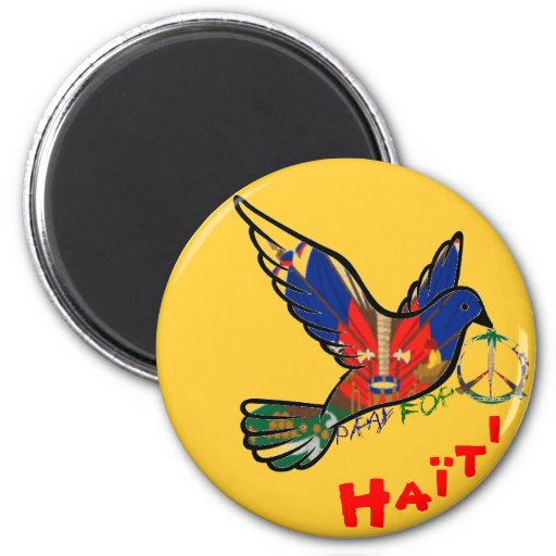 PEACE IN HAITI REFRIGERATOR MAGNETS