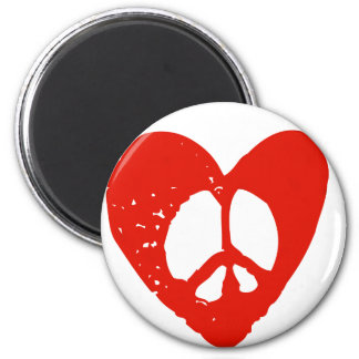 Peace in Heart 2 Inch Round Magnet