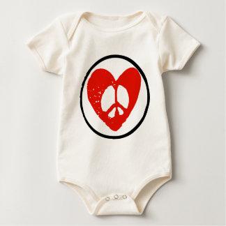 Peace in Heart Baby Bodysuit
