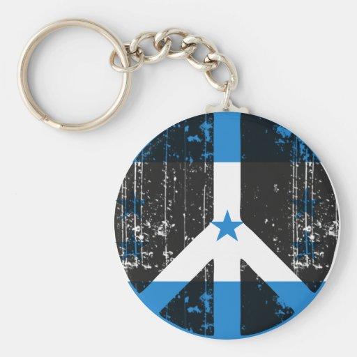 Peace In Honduras Keychains