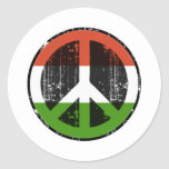 Peace In Hungary Round Stickers