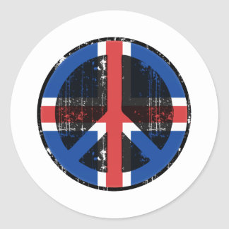 Peace In Iceland Classic Round Sticker