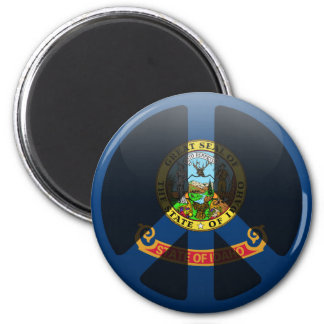 Peace in Idaho 2 Inch Round Magnet