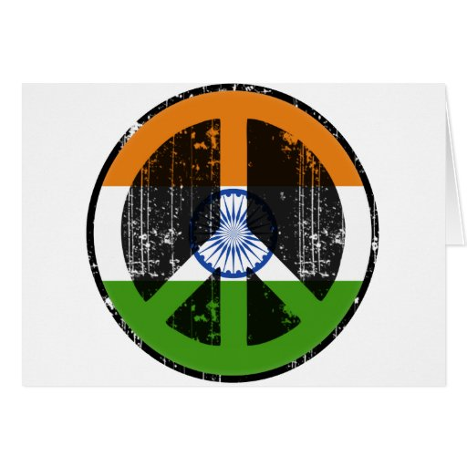Peace In India Greeting Card