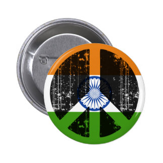 Peace In India Pinback Button