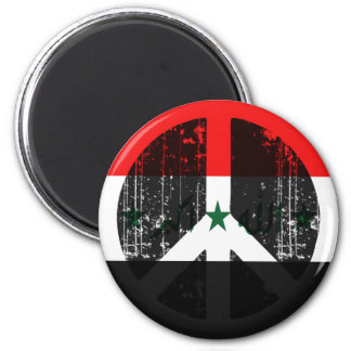 Peace In Iraq 2 Inch Round Magnet