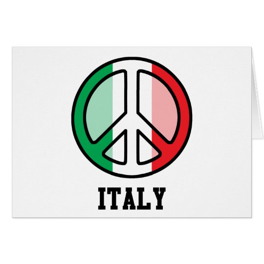 Peace In Italy Card