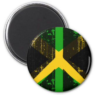Peace In Jamaica 2 Inch Round Magnet