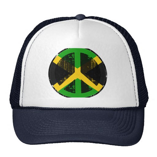Peace In Jamaica Mesh Hats