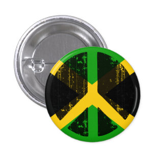 Peace In Jamaica Pinback Button