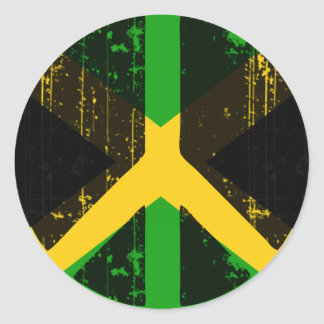Peace In Jamaica Round Sticker