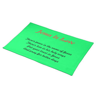Peace in jesus table mats cloth place mat