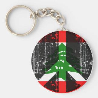 Peace In Lebanon Basic Round Button Keychain