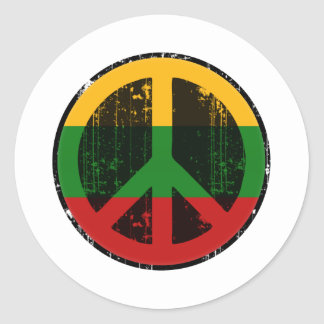 Peace In Lithuania Classic Round Sticker