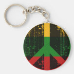 Peace In Lithuania Key Chain