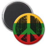 Peace In Lithuania Refrigerator Magnets