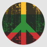 Peace In Lithuania Round Stickers