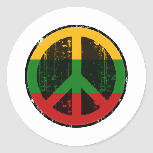 Peace In Lithuania Sticker