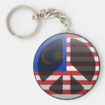 Peace in Malaysia Key Chain