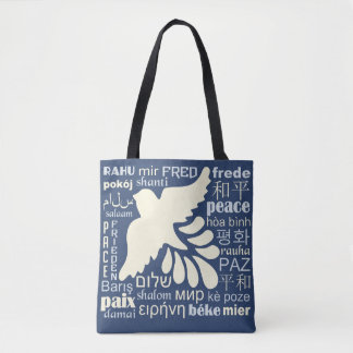 PEACE in many languages bags