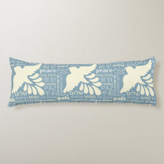 PEACE in many languages custom color body pillow