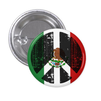 Peace In Mexico Pinback Buttons