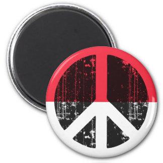 Peace In Monaco Refrigerator Magnet