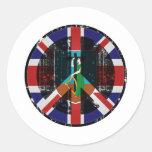 Peace In Montserrat Round Stickers