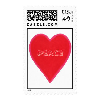 Peace in my heart, postage stamps