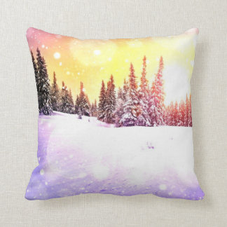 Peace in my heart today, winters day beautiful throw pillow