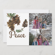 Peace in Nature Christmas Holiday 2 Photos Card