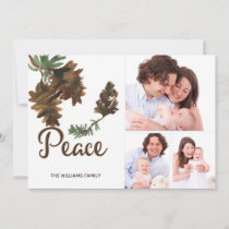 Peace in Nature Christmas Holiday 3 Photo Card