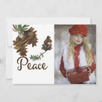 Peace in Nature Christmas Holiday Photo Card