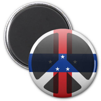 Peace in Netherlands Antilles Magnets