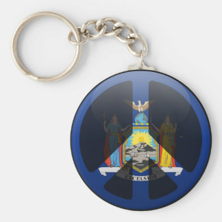 Peace in New York Key Chains