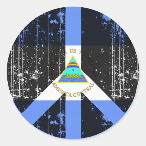 Peace In Nicaragua Classic Round Sticker
