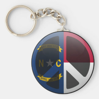 Peace in North Carolina Keychain